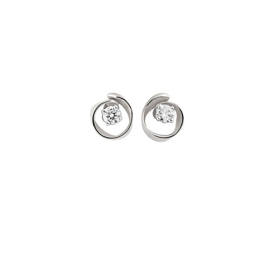 18 carat white gold earrings with diamonds from the Annamaria Cammilli brand